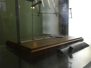 The airfoil section No. 12 used in the flight of 1903 and the drag measurement device used by the wright brothers