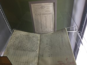 Wright bros notebook and a chart showing Lift coefficent and L/D ratios of the No. 12 section
